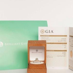 GIA Brilliant Earth Diamond 18K Engagement Ring
